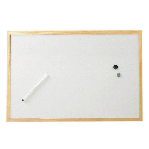 Доска магнитно-маркерная Hebel Maul 2534002 (40х60 см) белый доска пробковая hebel maul weiss 2706070 60x80см деревянная рама