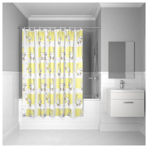 Штора для ванной комнаты, 180*180см, PEVA, P26PV11i11, IDDIS штора для ванной комнаты 180 180см peva p27pv11i11 iddis