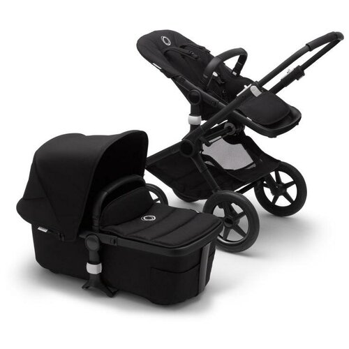 Фото - Универсальная коляска Bugaboo Fox 2 complete (2 в 1), black/black/black, цвет шасси: черный универсальная коляска indigo charlotte duo 2 в 1 ch31 цвет шасси черный