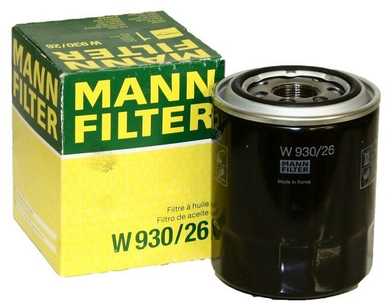 Масляный фильтр MANN-FILTER W 930/26 — купить по выгодной цене на Яндекс.Маркете