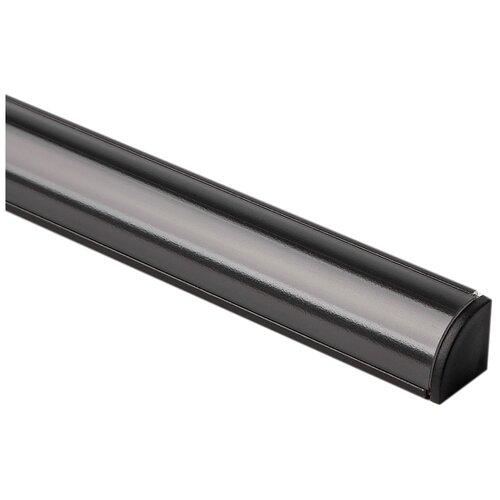 Угловой алюминиевый профиль для светодиодной ленты Elektrostandard LL-2-ALP008 Угловой алюминиевый профиль черный/черный для LED ленты (под ленту до 10mm)