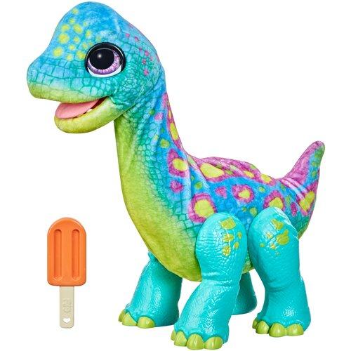 Интерактивная мягкая игрушка FurReal Friends Малыш Динозавр, F17395L0 бирюзовый