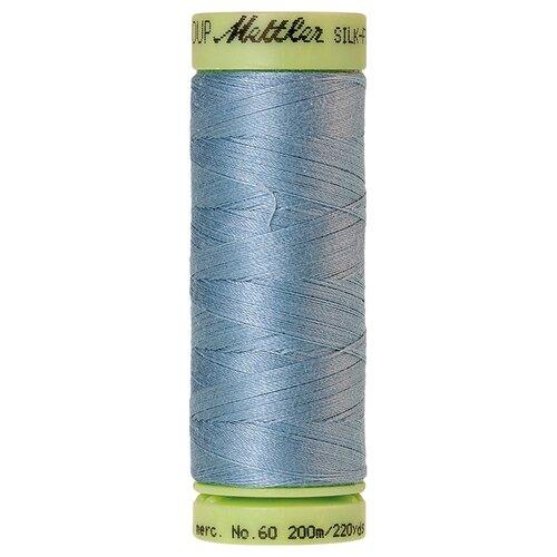 Нить для машинного квилтинга SILK-FINISH COTTON 60, 200 м 100% хлопок 1342 Blue Speedwell ( 9240-1342 )