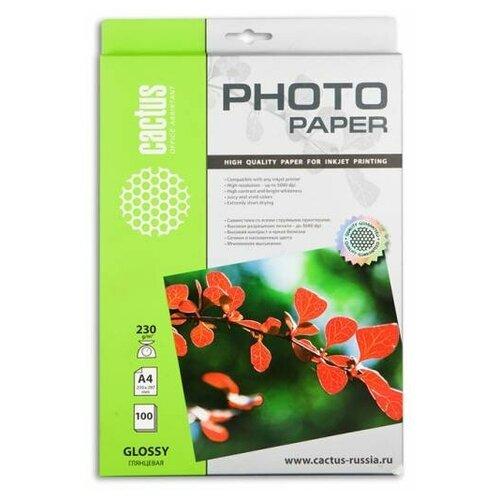 Фото - Бумага cactus A4 CS-GA4230100 230 г/м² 100 лист., белый бумага cactus a4 cs ma4170100 170 г м² 100 лист