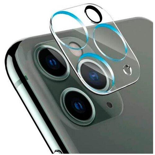 Защитное стекло на камеру Apple iPhone 11 и iPhone 12 mini / Противоударное стекло на камеру Эпл Айфон 11 и Айфон 12 мини (Прозрачный)
