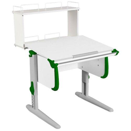 Фото - Стол детский ДЭМИ White-Стандарт СУТ-24-01Д 75x82 см белый/зеленый/серый стол дэми white double сут 25 01д 120x82 см клен зеленый бежевый