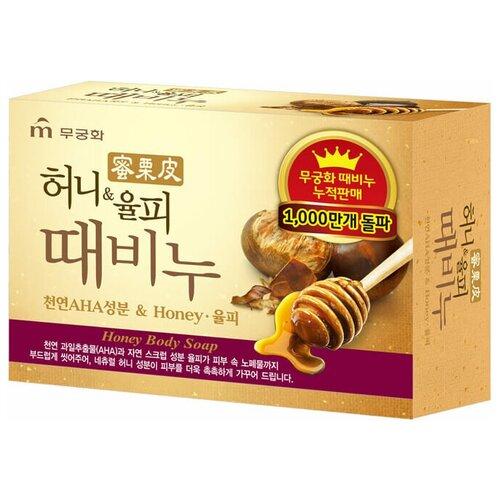 Мыло для тела Mukunghwa Honey Body Soap с медом и скорлупой каштанов, 100 г