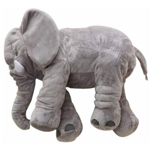 Мягкая игрушка 60см Детская игрушка в подарок / Плюшевая игрушка для детей Слон (Серый)