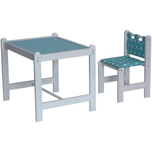 Комплект Гном стол + стул Pixy 62x52 см зеленый