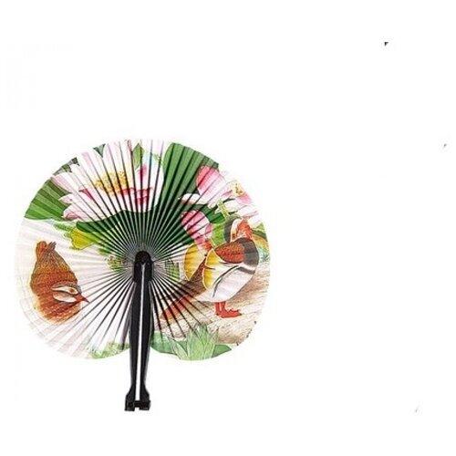 Бумажный веер (лотос и мандаринки)