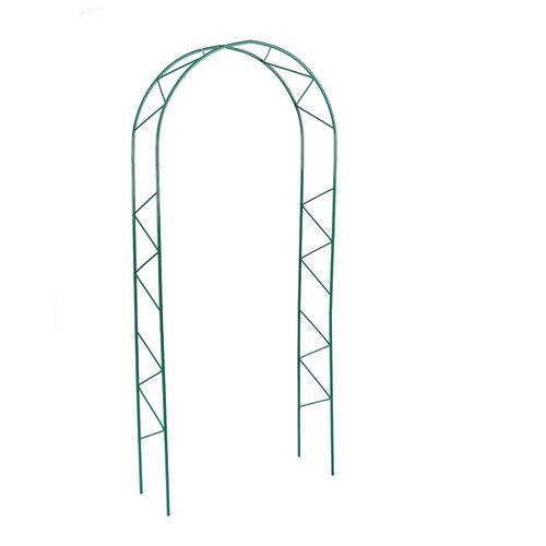 Арка садовая 240 х 125 х 36.5 см, разборная, металл, зелёная