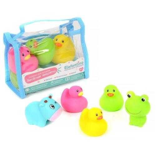 Купить Набор для ванной Elefantino Веселые зверята (IT106292) разноцветный, Игрушки для ванной