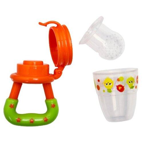 Купить Ниблер для прикорма, с силиконовой сеточкой Ням Ням , цвет оранжевый 2279603, Mum&Baby, Бутылочки и ниблеры