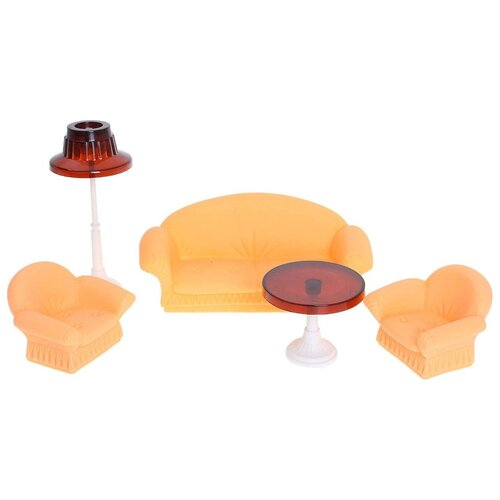 Купить Набор мебели Огонек Гостиная Конфетти , оранжевая (С-1336), ОГОНЁК, Мебель для кукол