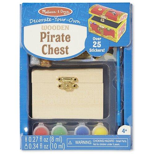 Купить Набор для детского творчества Пиратский сундук , Melissa & Doug, Поделки и аппликации
