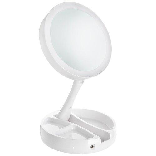 Зеркало настольное с подсветкой 16 см LED, USB Аквалиния D38102-2