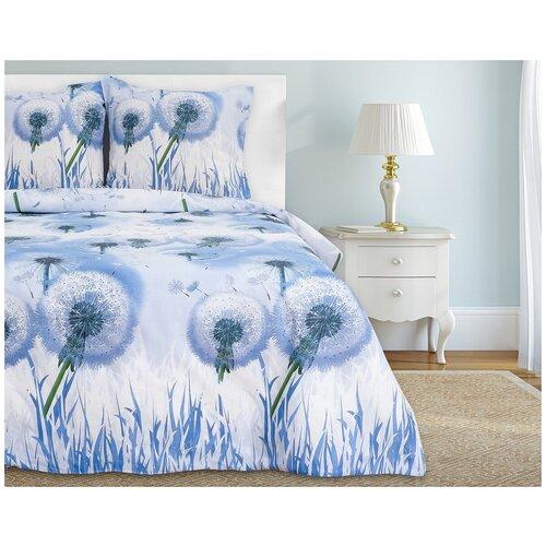 Фото - Постельное белье 2-спальное Этель Одуванчики, бязь, 70 х 70 см, голубой этель комплект постельного белья этель red planet 2 спальное