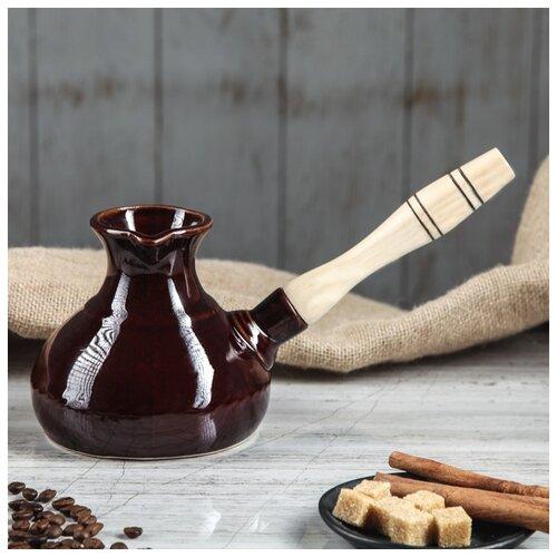 Турка для кофе 0,5 л деревянная ручка 1506628 по цене 346