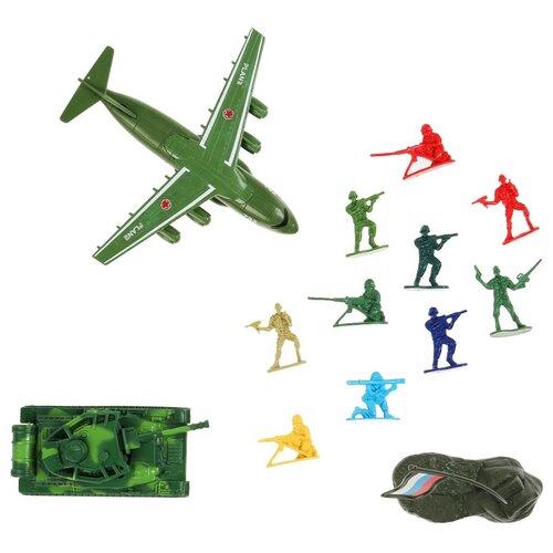 Военный набор Играем вместе солдатики, самолет, танк (инерция), аксессуары, в пакете (A528-H42004-R)