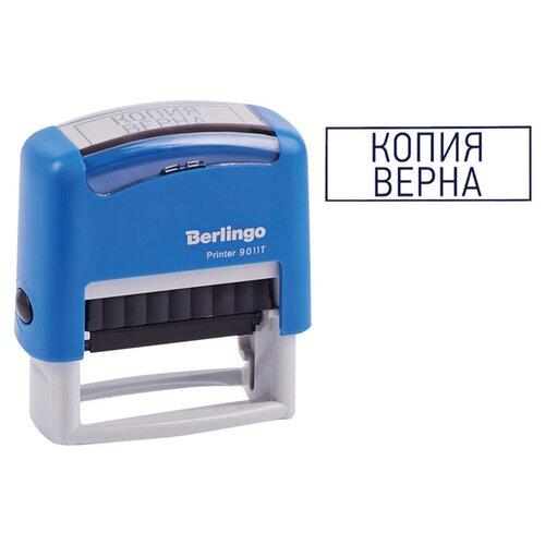 Фото - Штамп Berlingo Printer 9011Т прямоугольный Копия верна синий штамп colop printer с20 прямоугольный оплачено синий