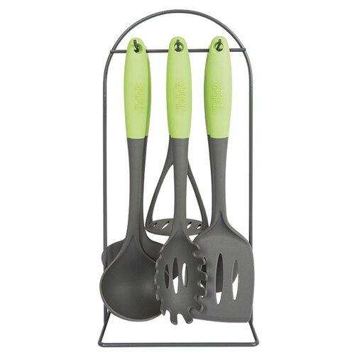 Фото - Набор навесок Taller Малверн TR-51480 (6 шт.) серый/зеленый набор кухонный taller малверн 7 предметов пластик нерж сталь