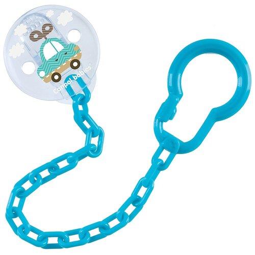 Купить Клипса-держатель для пустышек Canpol babies Toys, 0+, цвет бирюзовый (250989445), Пустышки и аксессуары