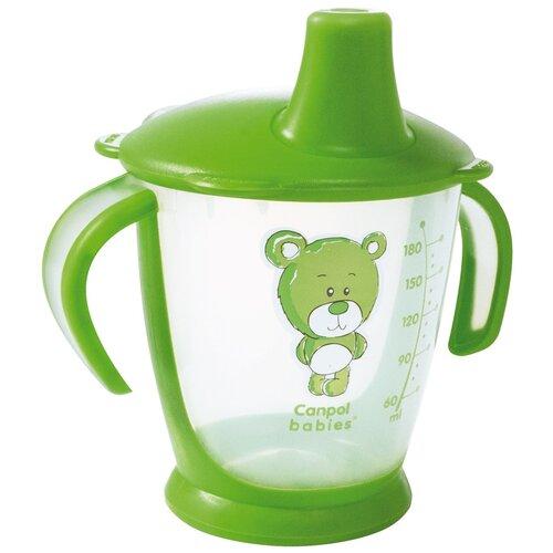 Фото - Чашка-непроливайка Canpol babies Медвежонок, 180 мл, 9+ месяцев, цвет зеленый (250930130) поильник непроливайка canpol babies 31 500 180 мл зеленый