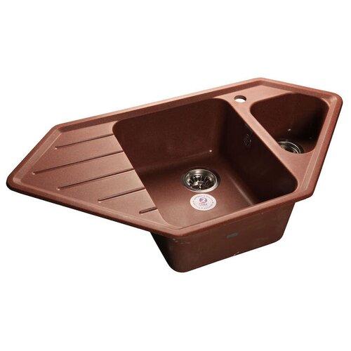 Фото - Врезная кухонная мойка 93 см GranFest Corner GF-C950E красный марс врезная кухонная мойка 47 5 см а гранит m 05 красный марс
