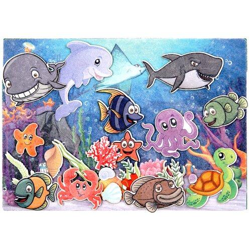 Купить Развивающая игра из фетра на липучках Подводный мир , Веселые липучки, Развивающие коврики