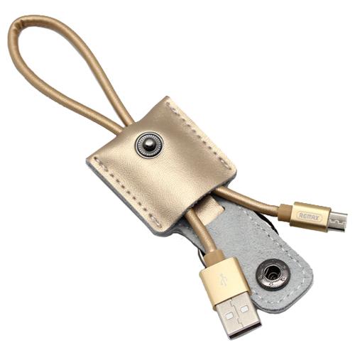 Кабель Remax Moss USB - microUSB (RC-079m) 0.3 м, золотистый кабель remax moss usb