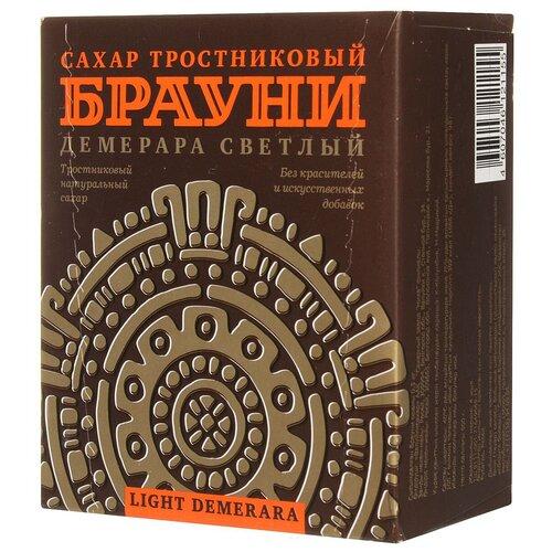 Сахар Брауни тростниковый коричневый Демерара светлый, рафинад, 500 г