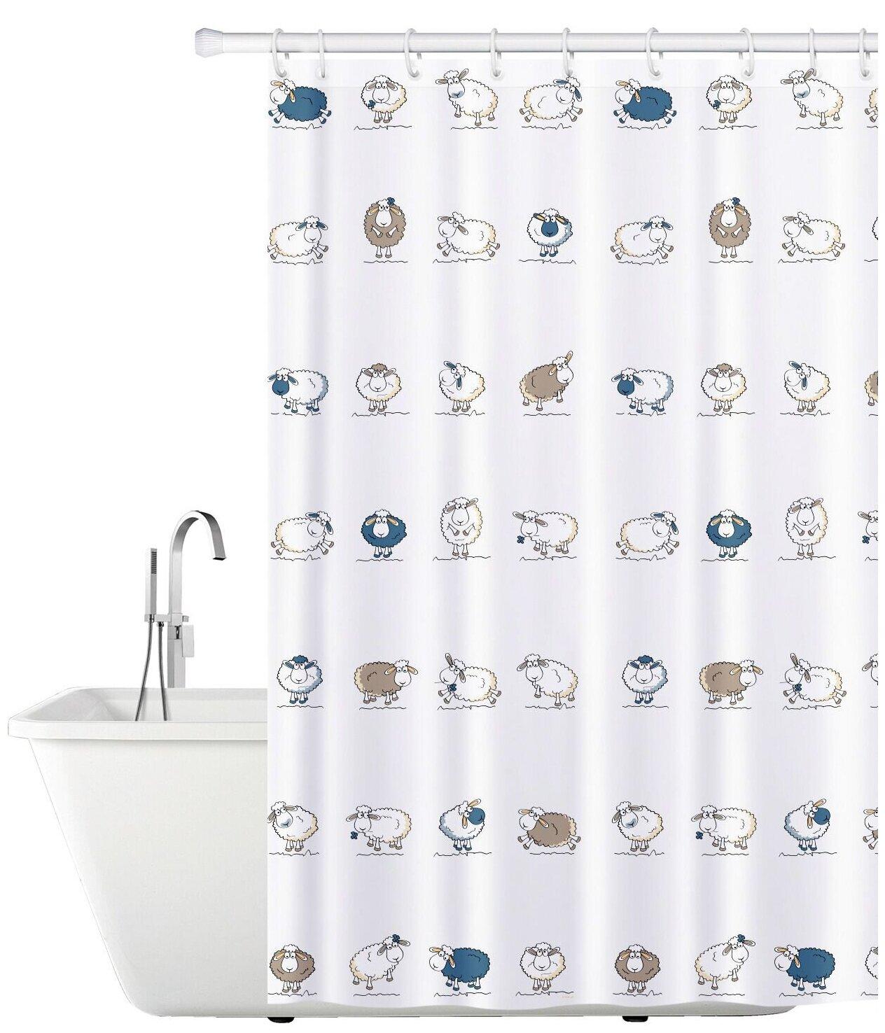 Штора для ванной Tatkraft Funny Sheep 180x180 — купить по выгодной цене на Яндекс.Маркете