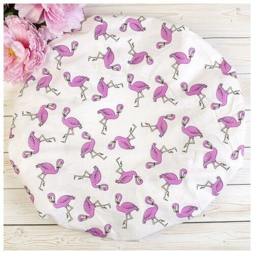 Купить Amarobaby Простыня на резинке круглая Фламинго 75 х 75 х 12 см белый, Постельное белье и комплекты