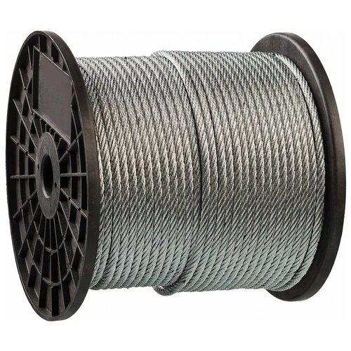 Трос стальной, оцинкованный, DIN 3055, d=1.5 мм, L=200 м, ЗУБР Профессионал 4-304110-15 трос стальной зубр din 3055 d 6 мм l 120м профессионал 4 304110 06
