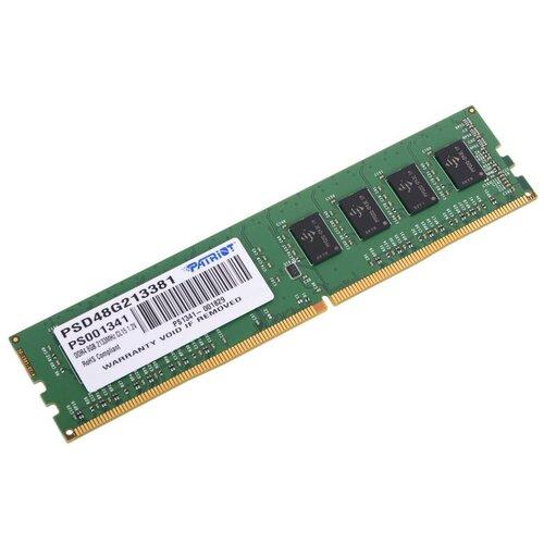 Фото - Оперативная память Patriot Memory SL 8GB DDR4 2133MHz DIMM 288pin CL15 PSD48G213381 оперативная память patriot memory sl 4gb ddr4 2133mhz dimm 288pin cl15 psd44g213381