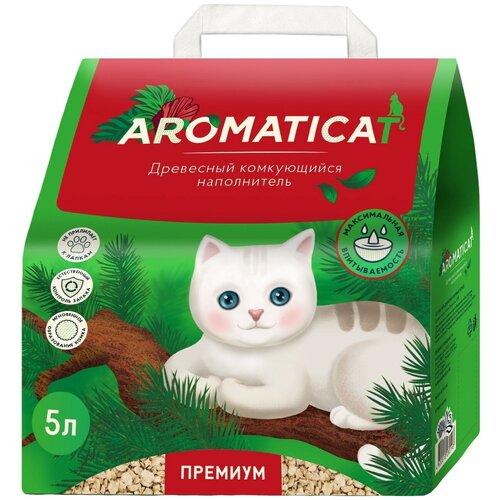 Фото - Комкующийся наполнитель AromatiCat древесный Premium, 5 л комкующийся наполнитель цап царап антимикробный 5 л