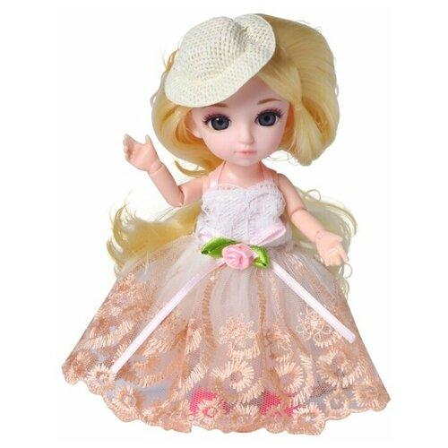 Кукла Малышка Лили блондинка с расческой, 16 см, Funky Toys FT72003