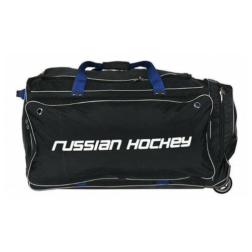 Сумка хоккейная BITEX 24-975/1 баул на колесах черный полиэстер, синий кедер