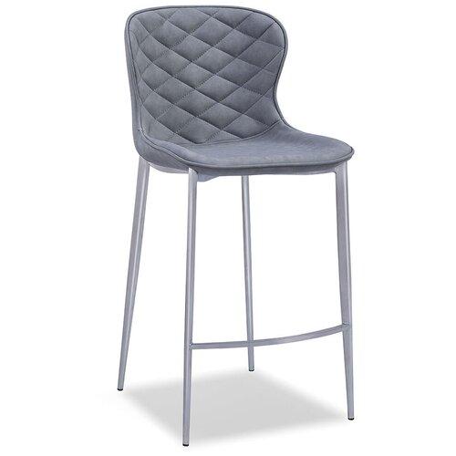 Фото - Стул полубарный Peggy (65), серый/стальной стул полубарный peggy 60 матовый коричневый черный