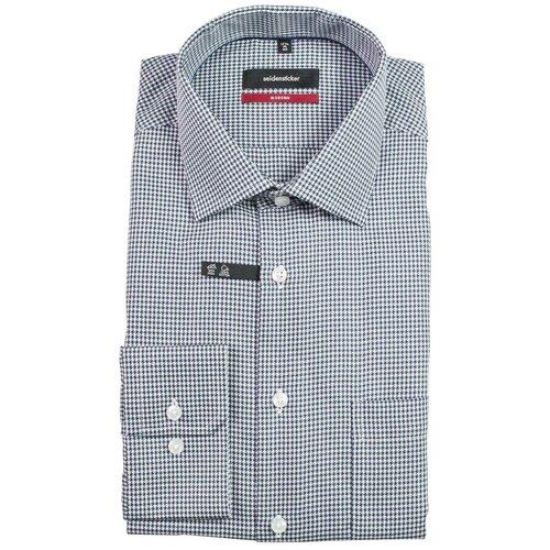 Рубашка Seidensticker размер 40 темно-синий/белый