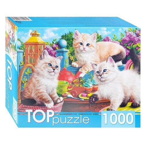TOPpuzzle. Пазлы 1000 элементов.Котята и чаепитие