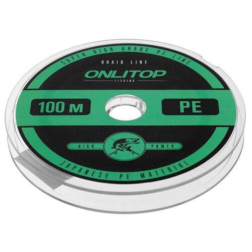 Леска плетёная, d=0,35 мм, 100 м, цвет зелёный
