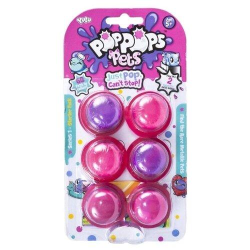 Купить Лизун YULU PopPops Pets (YL40001) 6 шт. разноцветный, Игрушки-антистресс