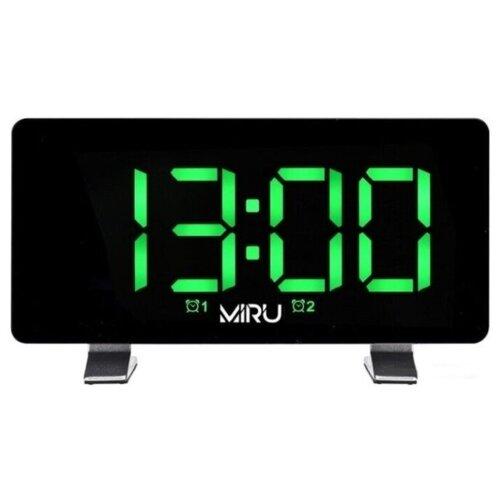 Радио-часы MIRU CR-1031 с функцией зарядки смартфона, планшета