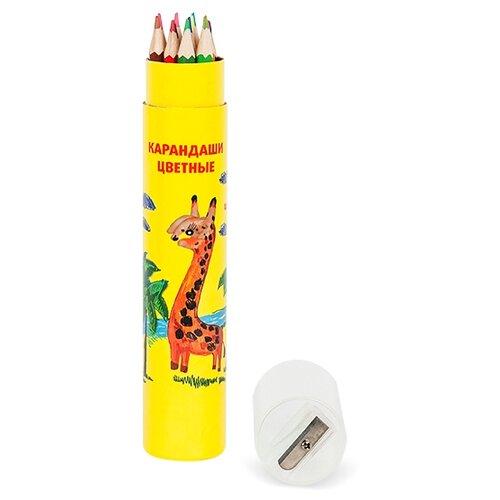Купить Каляка-Маляка Карандаши цветные в тубе 12 цветов (ККМ12Т), Цветные карандаши
