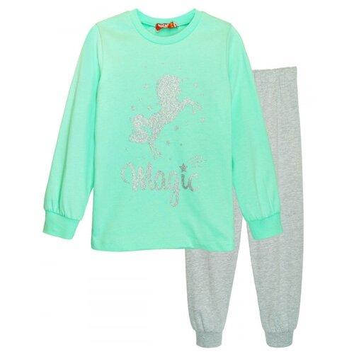 Пижама Let's Go размер 92, зеленый/серый