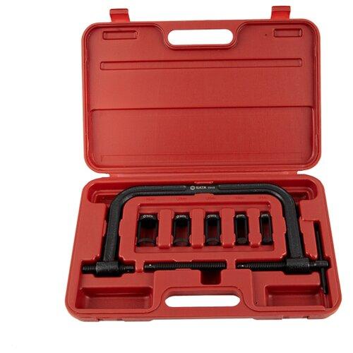 Инструмент (замена/монтаж/ремонт дв) клапанных пружин, съемник/струбцина SATA