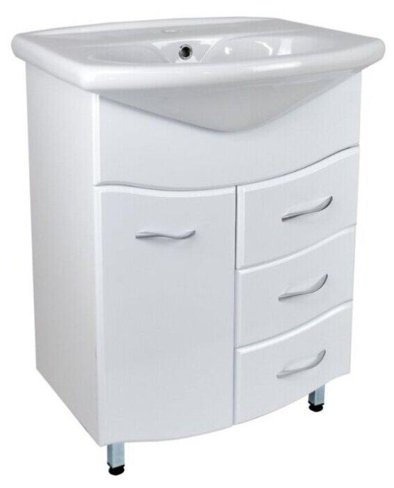 Купить Тумба Камилла 65 DORATIZ 9911.003, напольная, белая, с 3 ящиками, под умывальник Новая грань по низкой цене с доставкой из Яндекс.Маркета