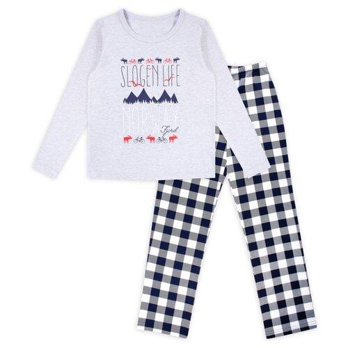 Пижама Веселый Малыш размер 158, серый/белый/черный пижама веселый малыш размер 92 белый оранжевый