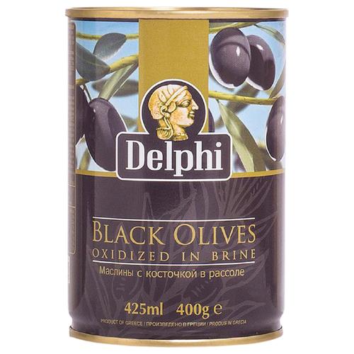 DELPHI Маслины с косточкой в рассоле, 400 г delphi маслины с косточкой в рассоле монастырские 480 г